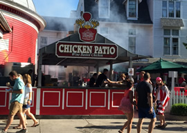 The chicken patio in Put-in-Bay!